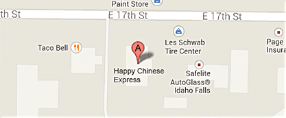 Map to Happy Chinese Restaurant Express
