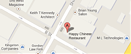 Map to Happy Chinese Restaurant